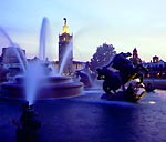 Poseidon's Fountain on the Plaza